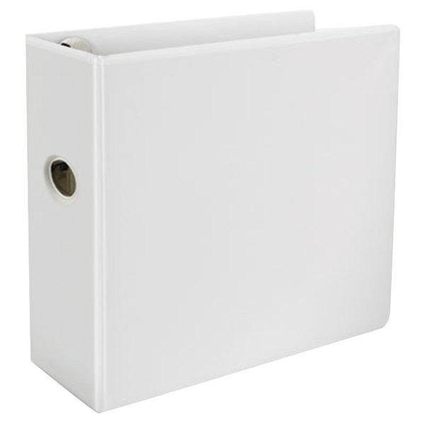 """Universal UNV30756 Comfort Grip Deluxe Plus White Eco-Friendly Binder with 5"""" Slant Rings Main Image 1"""