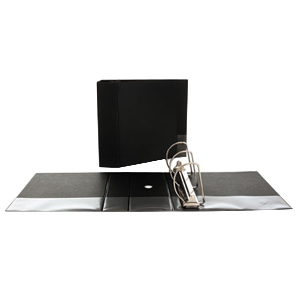 """Universal UNV20714 Black Non-View Binder with 5"""" Slant Rings and Spine Label Holder"""