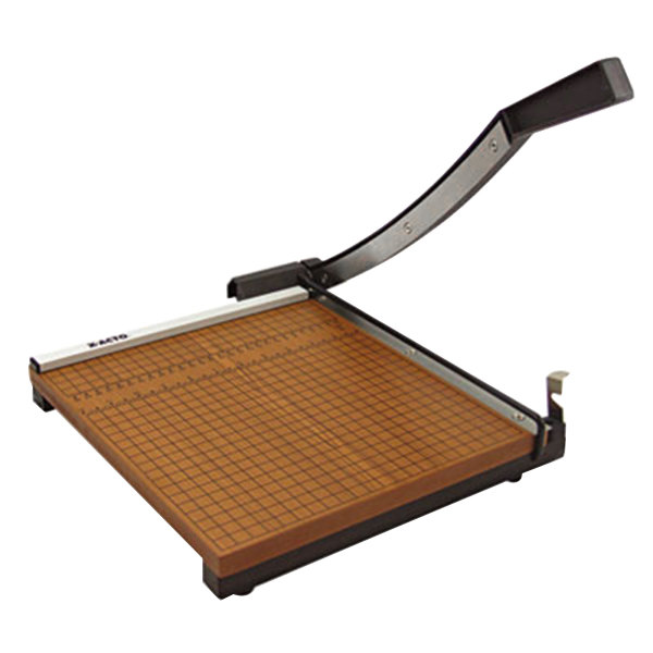 """X-Acto 26615 15"""" Square 15 Sheet Commercial Guillotine Paper Trimmer with Wood Base Main Image 1"""