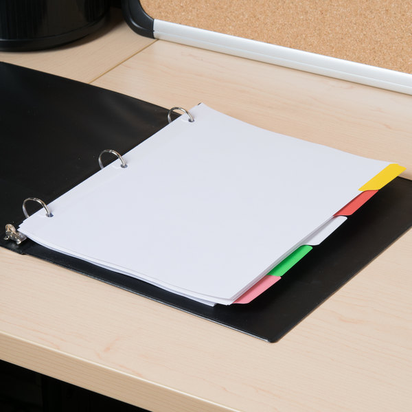 Universal UNV20816 Multi-Color 5-Tab Write-On/Erasable Dividers