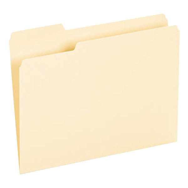 Universal UNV12213 Letter Size File Folder - Interior Height with 1/3 Cut Assorted Tab, Manila - 100/Box Main Image 1