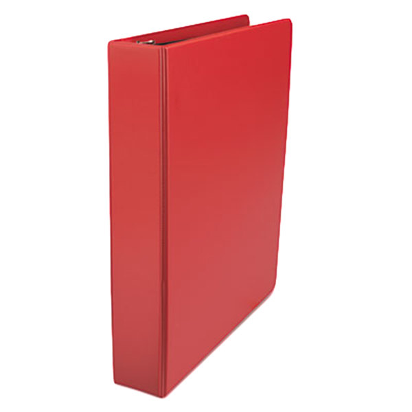 """Universal UNV20773 Red Non-View Binder with 1 1/2"""" Slant Rings"""