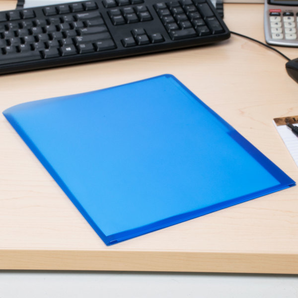 Avery 47811 Letter Size 2-Pocket Plastic Folder - Translucent Blue Main Image 8