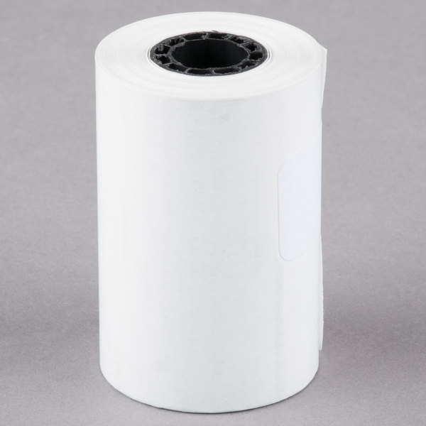 Universal Office UNV35766 2 1/4 inch x 55' White 1-Ply Cash Register and Point of Sale 12# Thermal Paper Roll  - 50/Case