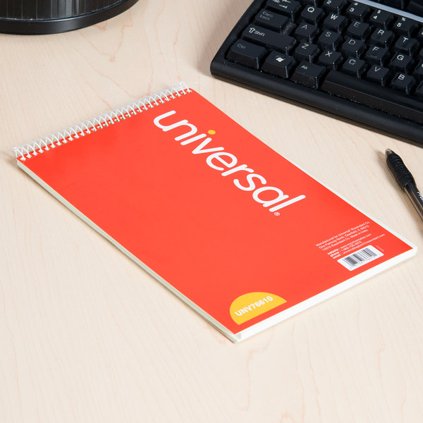 "Universal UNV76610 6"" x 9"" Green Pitman Rule Steno Book - 60 Sheets Main Image 6"