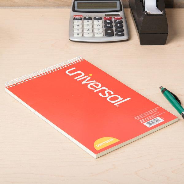 """Universal UNV76920 6"""" x 9"""" Green Gregg Rule Steno Book - 70 Sheets"""