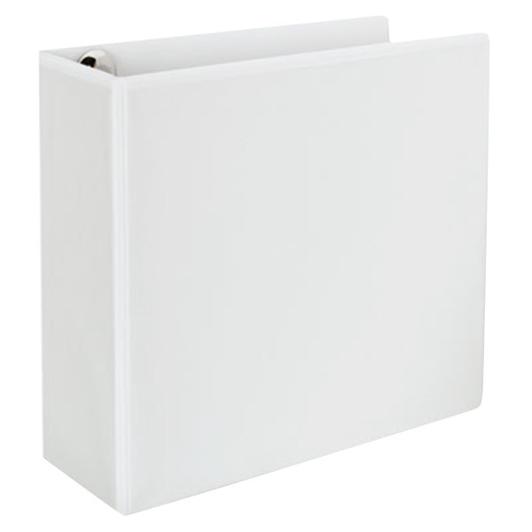 """Universal UNV30754 Comfort Grip Deluxe Plus White Eco-Friendly Binder with 4"""" Slant Rings"""