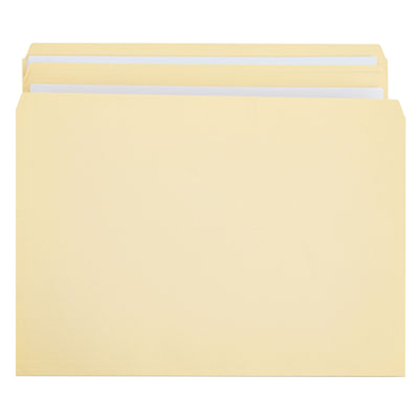 Universal UNV16120 Legal Size File Folder - Standard Height with 2-Ply Straight Cut Tab, Manila - 100/Box