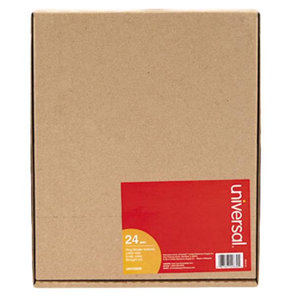 Universal UNV20830 Buff Multicolored 5-Tab Insertable Tab Divider Set - 24/Box