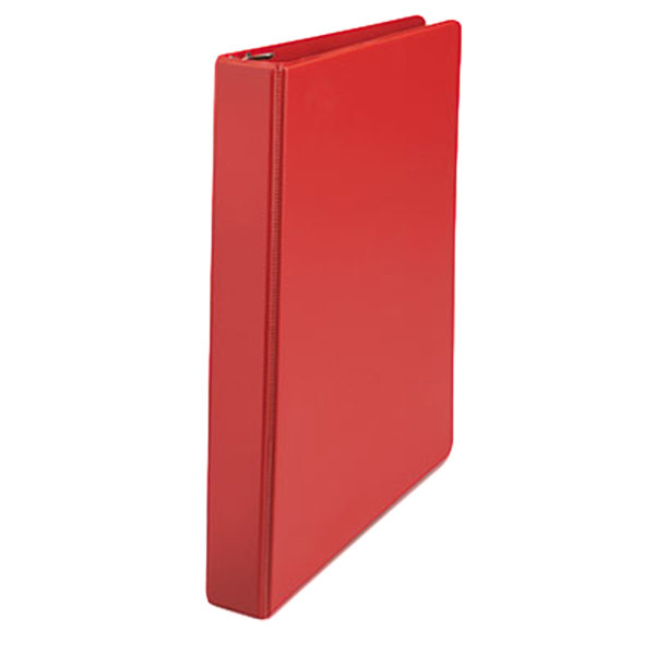 """Universal UNV20763 Red Economy Non-View Binder with 1"""" Slant Rings"""