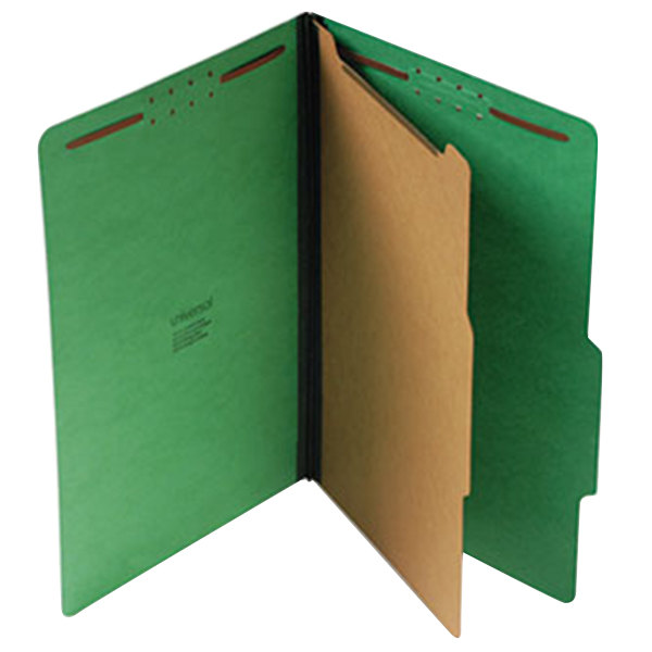 Universal UNV10212 Legal Size Classification Folder - 10/Box Main Image 1