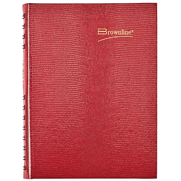 """Brownline CB389C 5 3/4"""" x 8 1/4"""" Red 2021 CoilPro Daily Planner Main Image 1"""