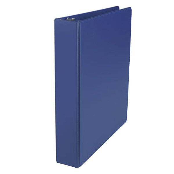 "Universal UNV20775 Royal Blue Non-View Binder with 1 1/2"" Slant Rings Main Image 1"