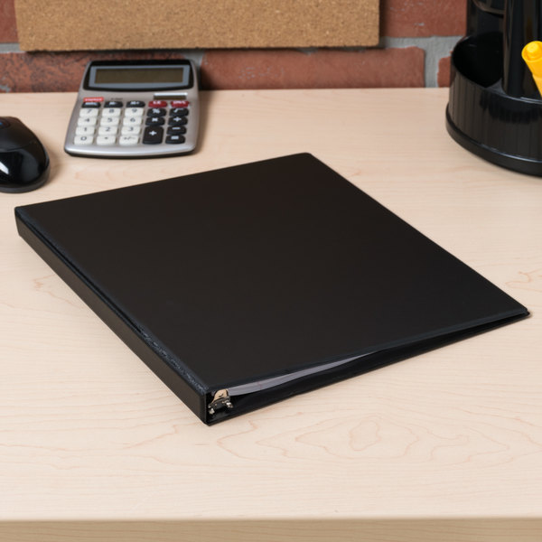 """Universal UNV30401 Black Economy Non-Stick Non-View Binder with 1/2"""" Round Rings"""