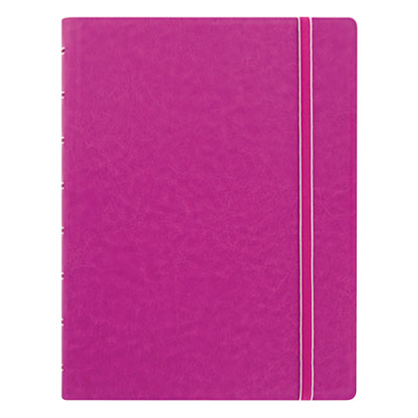 "Filofax B115011U 8 1/4"" x 5 13/16"" Pink Cover College Rule 1 Subject Notebook - 112 Sheets"