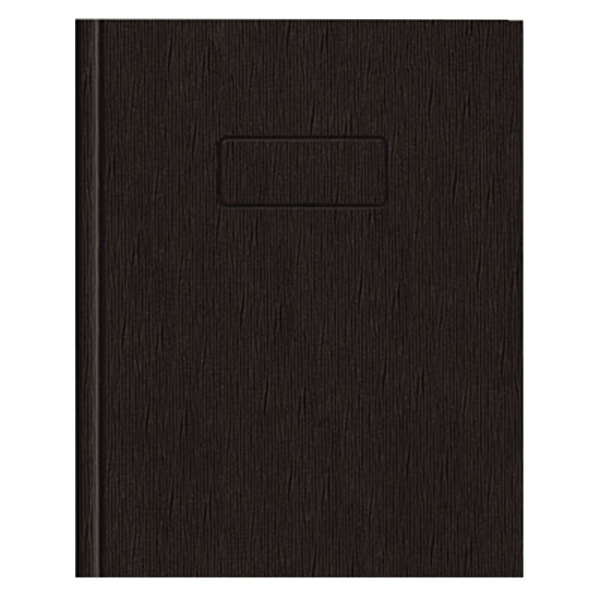 "National A7EBLK 9 1/4"" x 7 1/4"" Black Hard Cover College Rule Ecologix Notebook - 75 Sheets"