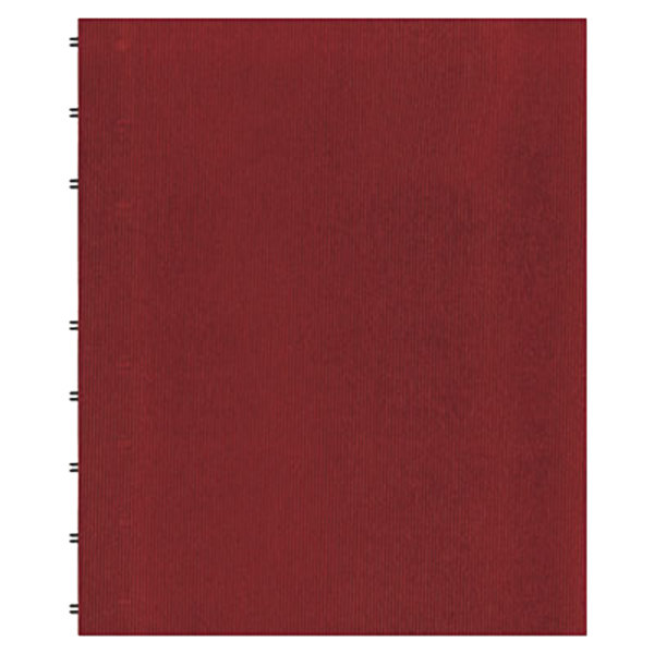 "Blueline AF1115083 11"" x 9 1/16"" Red College Rule 1 Subject MiracleBind Notebook - 75 Sheets Main Image 1"