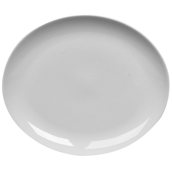 "Homer Laughlin by Steelite International HL20206800 Ameriwhite Alexa 11 3/8"" x 9 1/2"" Bright White China Platter - 12/Case Main Image 1"