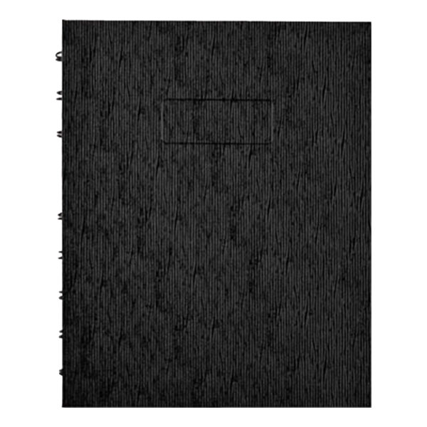 "Blueline A7150EBLK 9 1/4"" x 7 1/4"" Black College Rule 1 Subject NotePro Executive Notebook - 75 Sheets Main Image 1"