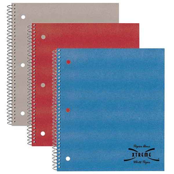"National 33709 8 7/8"" x 11"" Assorted Color College Rule 1 Subject Wirebound Notebook - 80 Sheets Main Image 1"