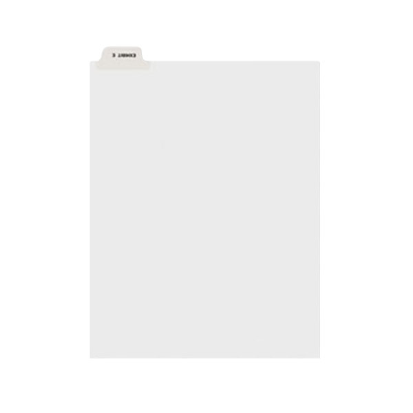 Avery 11944 Individual Legal Exhibit E Bottom Tab Divider - 25/Pack Main Image 1