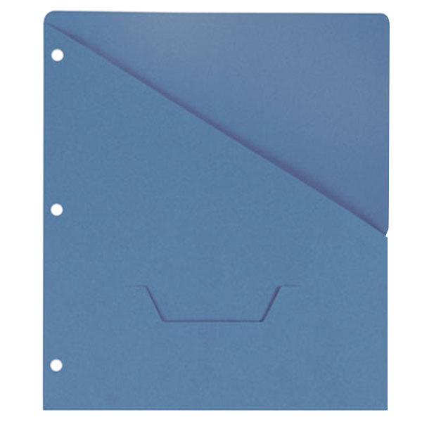 "Universal UNV61681 11"" x 8 1/2"" Blue Three Ring Binder Jacket with Slash-Cut Pocket, Letter - 10/Pack"