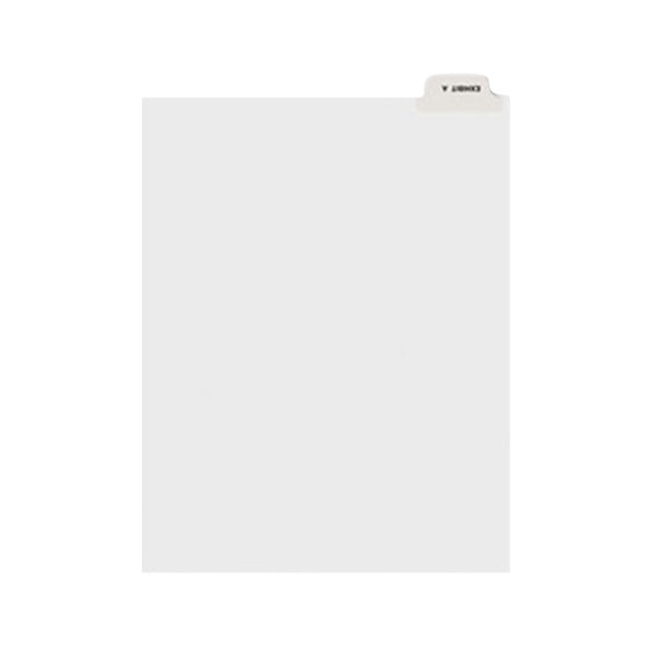 Avery 11940 Individual Legal Exhibit A Bottom Tab Divider - 25/Pack Main Image 1