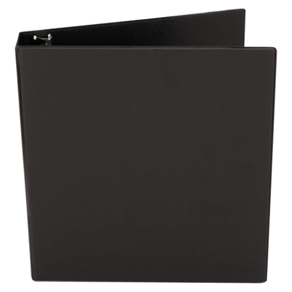 """Universal UNV33411 Black Economy Non-Stick Non-View Binder with 1 1/2"""" Round Rings and Spine Label Holder"""