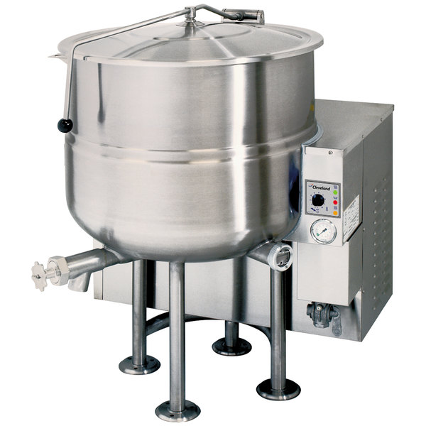 Cleveland KGL-40 Natural Gas 40 Gallon Stationary 2/3 Steam Jacketed Kettle - 140,000 BTU Main Image 1