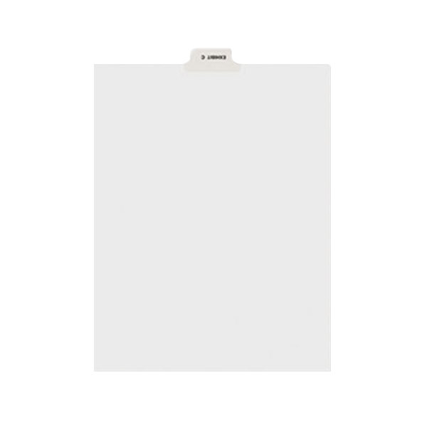 Avery 11942 Individual Legal Exhibit C Bottom Tab Divider - 25/Pack