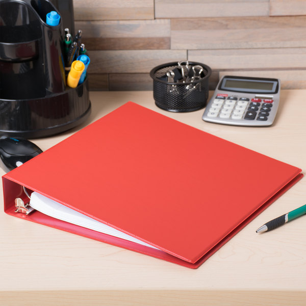 "Universal UNV33403 Red Economy Non-Stick Non-View Binder with 1 1/2"" Round Rings"