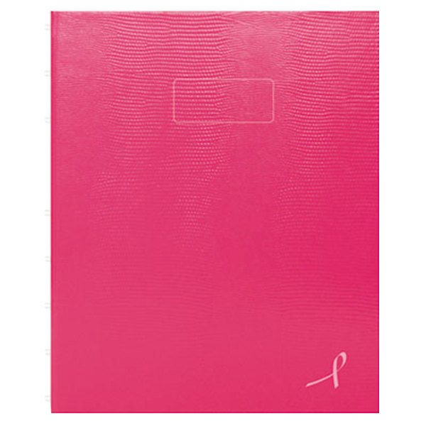 """Blueline A7150PNK4 9 1/4"""" x 7 1/4"""" Bright Pink College Rule 1 Subject NotePro Notebook - 75 Sheets"""