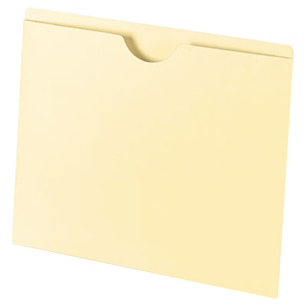 Universal UNV72300 Letter Size File Jacket with Thumb Tab - Manila - 100/Box