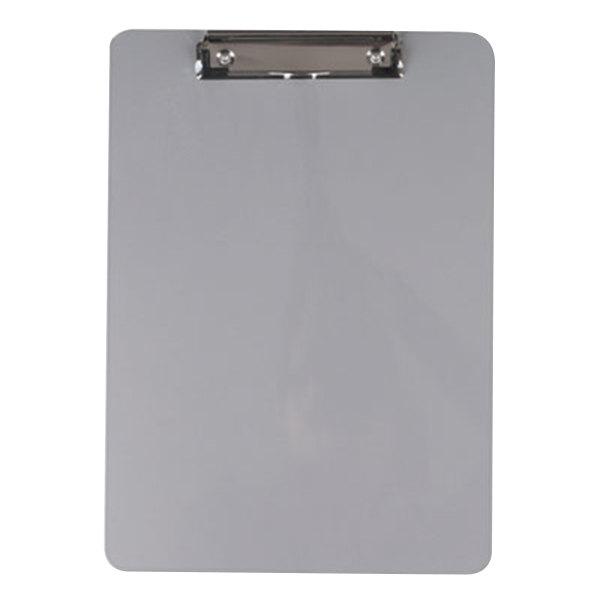 "Universal UNV40301 1/2"" Capacity 11"" x 8 1/2"" Silver Low Profile Clip Aluminum Clipboard Main Image 1"