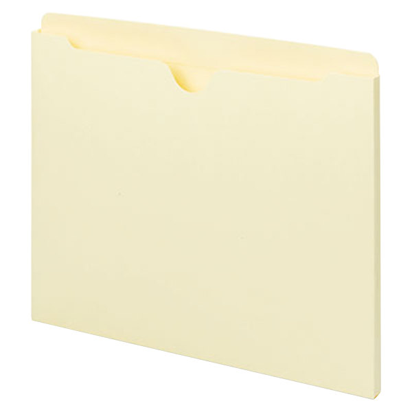 Universal UNV73300 Letter Size File Jacket - Reinforced Straight Cut Tab, Manila - 100/Box Main Image 1