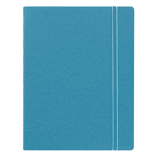 "Filofax B115012U 8 1/4"" x 5 13/16"" Aqua Cover College Rule 1 Subject Notebook - 112 Sheets"