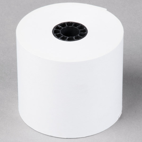 Universal Office UNV35705RL 2 1/4 inch x 128' White 1-Ply Adding Machine and Calculator 16# Paper Roll