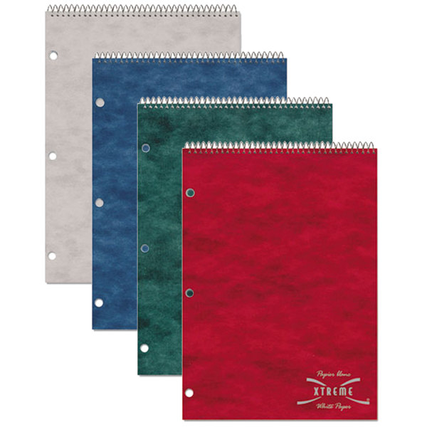"National 31186 8 1/2"" x 11 1/2"" Assorted Color College Rule 1 Subject Porta Desk Notebook - 80 Sheets"