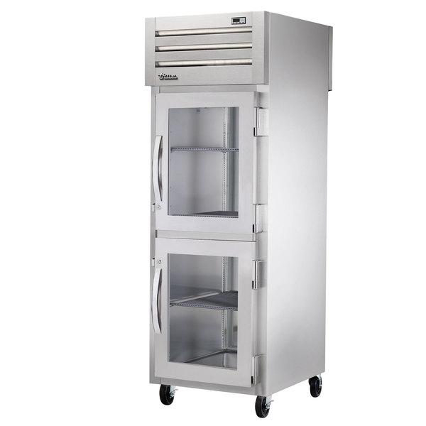 True STA1RPT-2HG-1G-HC Specification Series 27 1/2 inch Half Glass Front, Glass Back Door Pass-Through Refrigerator