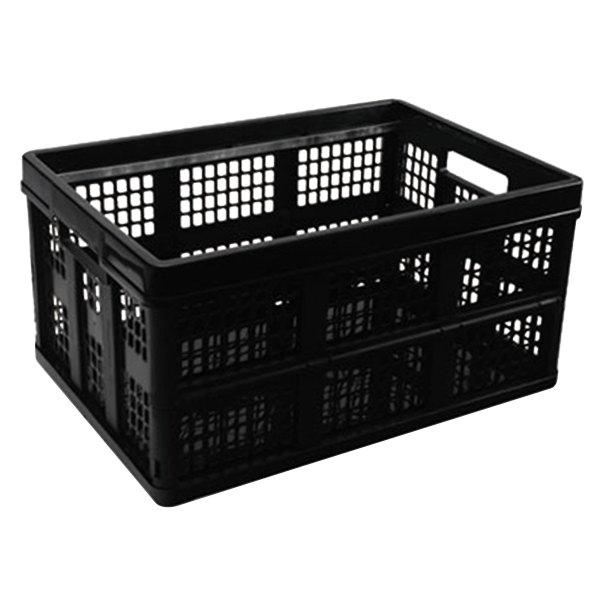 """Universal UNV40015 20 3/4"""" x 14 5/8"""" x 10 3/4"""" Black Plastic File Storage Tote"""