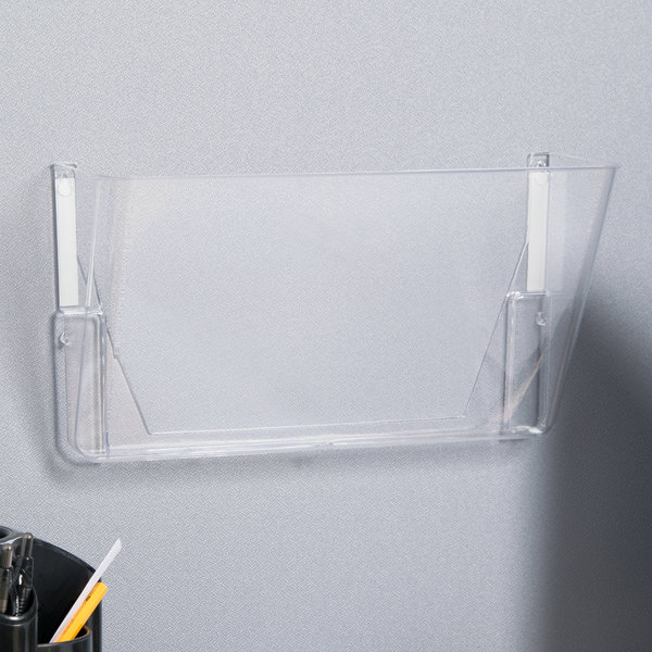 Universal UNV53692 Clear 1 Pocket Letter Sized Wall Hanging File Add On