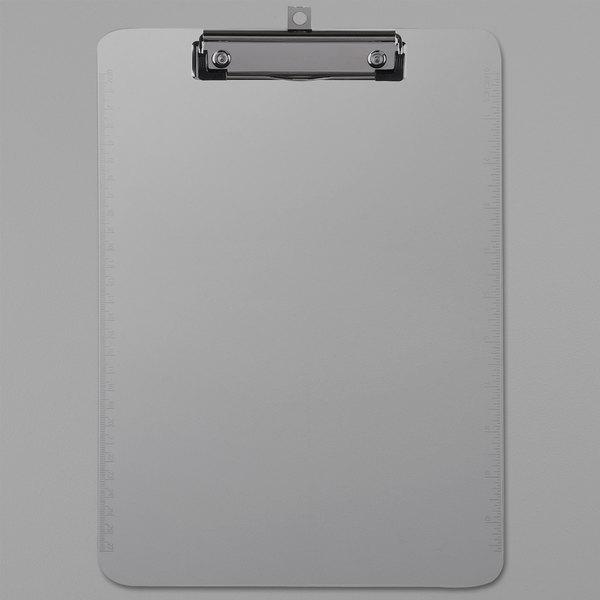 "Universal UNV40310 1/2"" Capacity 8 1/2"" x 11"" Clear Low Profile Clip Plastic Clipboard Main Image 1"