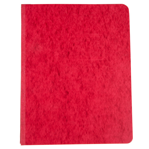 "Universal Office UNV80579 11"" x 8 1/2"" Red Pressboard Report Cover with Prong Fastener, Letter"