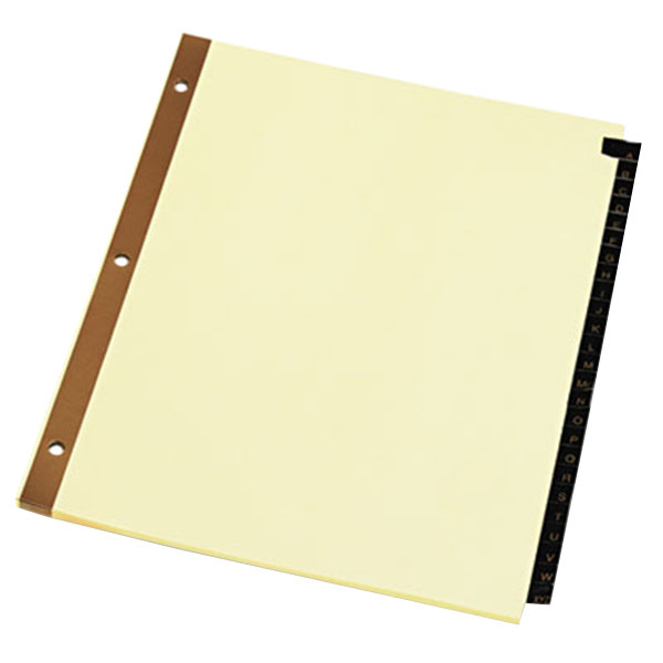 Universal UNV20821 Leather-Look 25-Tab Preprinted Alphabetical Tab Dividers Main Image 1