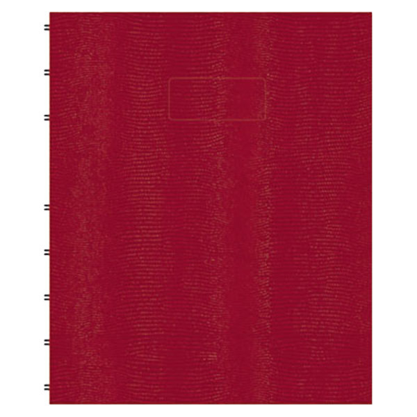"""Blueline AF915083 9 1/4"""" x 7 1/4"""" Red College Rule 1 Subject MiracleBind Notebook - 75 Sheets"""