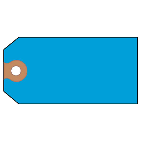 "Avery 12355 4 3/4"" x 2 3/8"" Blue Paper Unstrung Shipping Tag - 1000/Box Main Image 1"