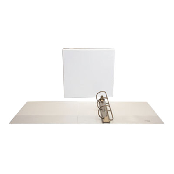"""Universal UNV20748 White Economy View Binder with 3"""" Slant Rings"""