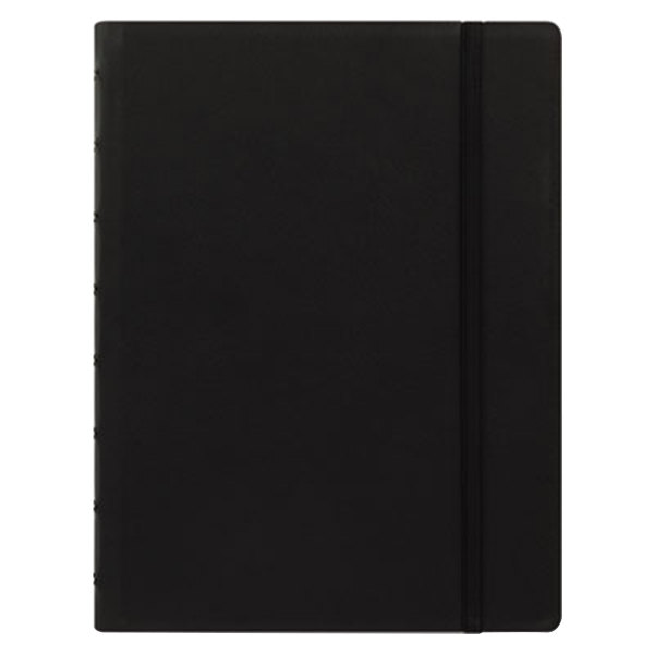 "Filofax B115007U 8 1/4"" x 5 13/16"" Black Cover College Rule 1 Subject Notebook - 112 Sheets Main Image 1"