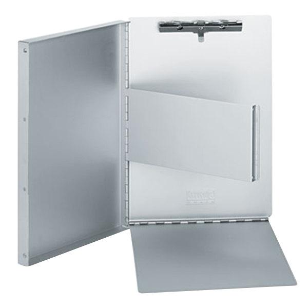 "Universal UNV40300 2/5"" Capacity 11"" x 8 1/2"" Silver High Capacity Clip Aluminum Clipboard"