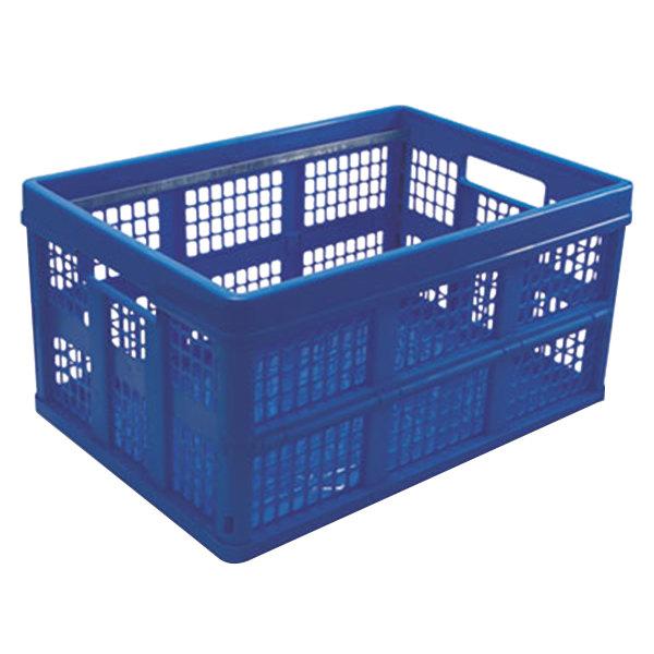 "Universal UNV40013 20 3/4"" x 14 5/8"" x 10 3/4"" Blue Plastic Filing / Storage Box Main Image 1"